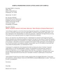 sample cover letter for chemical engineering internship