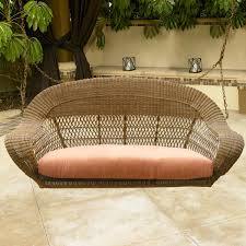 Wicker Settee Replacement Cushions by Furnitures Fascinating Porch Swing Cushions For Alluring Outdoor