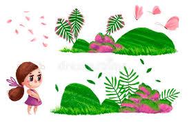 imagenes lindas naturaleza colección dibujada mano artística de elementos de la naturaleza y de