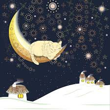 cat on the moon stock vector illustration of snowy 44729998