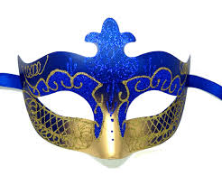 blue masquerade masks glitter masquerade mask in royal blue and gold