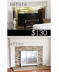 Lowes Fireplace Stone by Airstone Fireplace Makeover The Lettered Cottage
