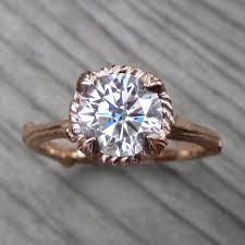 carved engagement rings lab grown diamond twig engagement ring 1 30ct kristin coffin