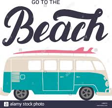 party bus clipart go to the beach hand lettering with surf bus invitation flyer for