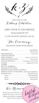 wedding programs printable invitations cool wedding program templates for modern wedding