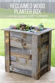 diy reclaimed wood planter box u2026for an upright fairy garden