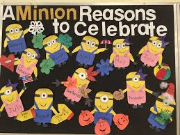 birthday board minion birthday bulletin board pinteres