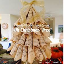 sheet music paper christmas tree the style sisters