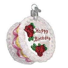 cake ornament old world christmas