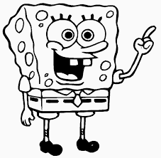 colour drawing free wallpaper bob esponja coloring drawing free