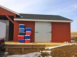 How Much Does It Cost To Build A Pole Barn House How To Build A Walk In Freezer Smith Meadows
