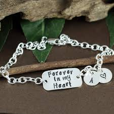 personalized memorial necklace personalized memorial jewelry forever in my heart miscarriage gift