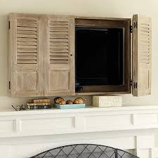 mirror cabinet tv cover brown shutter tv wall cabinet