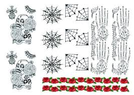 mecican theme day of the dead temporary tattoos jpg