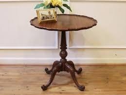 pie crust end table vintage imperial grand rapids mahogany pie crust edge pedestal end