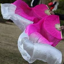 silk fans newest 100 silk belly fans veils pink white 180cm