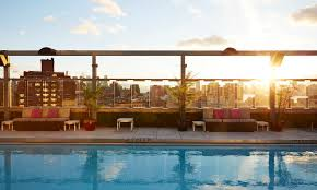 hotel in nyc with rooftop pool gansevoort
