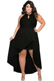 plus size black high low scuba dress plus size fashion 2017 2018