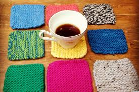 homemade gift ideas knitted coasters huffpost