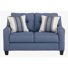 Living Room Ashley Furniture Blue Sofa Darcy Cobblestone Fabric