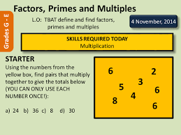 factors multiples and primes by deselby teaching resources tes