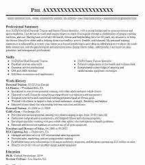 personal trainer resume objective trainer resume sle trainer resume sles visualcv resume