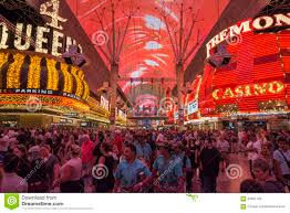 Las Vegas Fremont Street Map by Fremont Street Experience Excitement In Las Vegas Editorial Stock