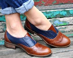 womens brown leather boots sale s oxfords tie shoes etsy