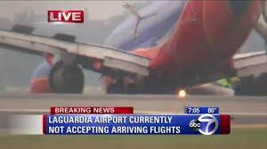South West Flights by Laguardia Landing Gear Fails On Southwest Airlines Flight