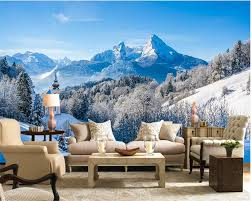 beibehang wallpaper customized size modern hd winter snowy beibehang wallpaper customized size modern hd winter snowy mountain forest living room tv wall background papel de parede behang in wallpapers from home