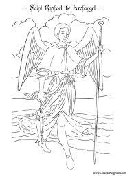 Saint Raphael The Archangel Coloring Page September 29th Coloring Pages For September