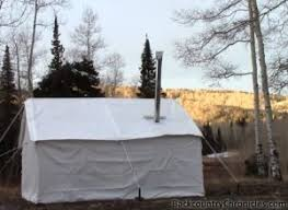 a canvas wall tent camping without hauling a trailer