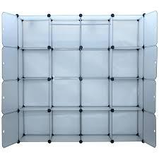homcom plastic portable extra wide modular storage closet