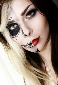 half face halloween makeup ideas 31 best sugar skulls images on pinterest sugar skull makeup