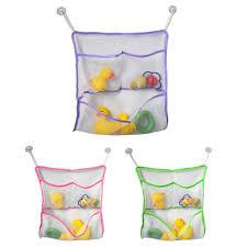 2017 wholesale kids baby bath time toys storage suction bag 43