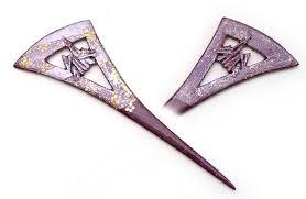 kanzashi hair pin a carved wooden kanzashi hair pin with added decorative detailing