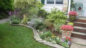astonishing home garden front yard design with small garden beside