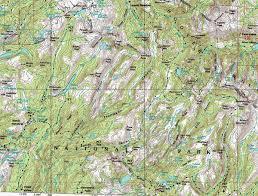 map bensen lake to backpacking to virginia canyon in yosemite