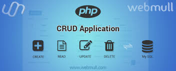 php crud application tutorial example using mysql webmull