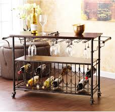 dining room cart wine rack serving table rolling bar cart bottle kitchen dining