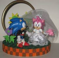 sonic cake topper sonic wedding cake topper sonic custom diorama playset