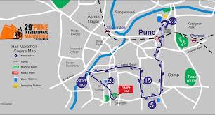 Boston Marathon Course Map by Pune International Half Marathon 2016 2017 Date Registration