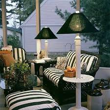 Patio Furniture Lighting Outdoor Patio Table And Floor Ls Intended For Decorations 3