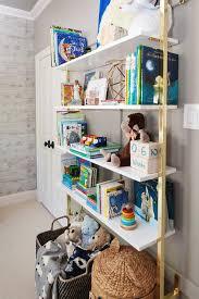 Nursery Wall Bookshelf Brass Kitchen Wall Shelving Unit Design Ideas