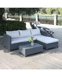 Handy Living Sofa Great Deals On Handy Living Aldrich Grey 5 Piece Rattan Indoor