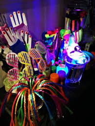 glow in the birthday party neon glow birthday treat table and decorations party neon glow