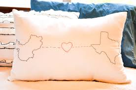 Long Distance Pillow Meme - in between laundry custom embroidered geography love slipcover