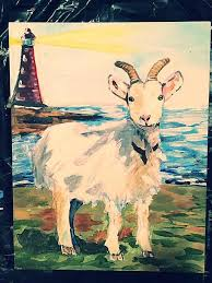 Goat Home Decor Light House Goat Prints Paintings Home Decor By