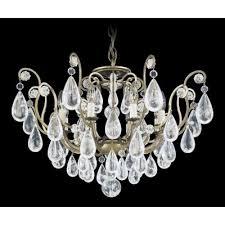 Antique Rock Crystal Chandelier Schonbek 2485 47r Antique Pewter Versailles Rock Crystal