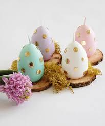 pastel easter eggs easter egg candle easter eggs with golden polka dot pastel